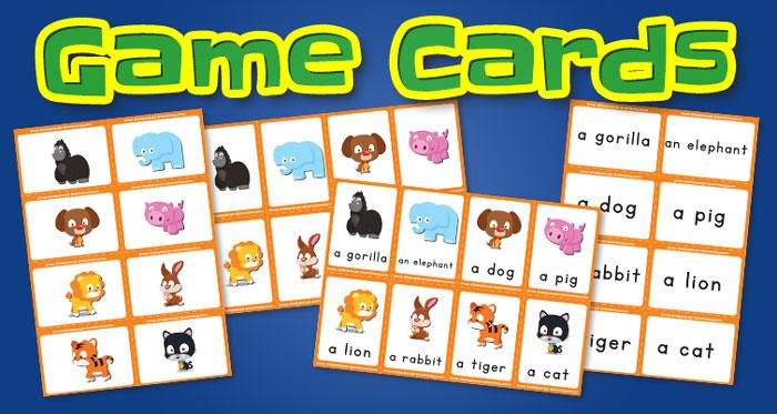 animals game cards set1