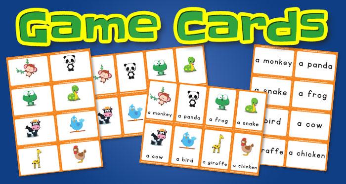 animals game cards set2