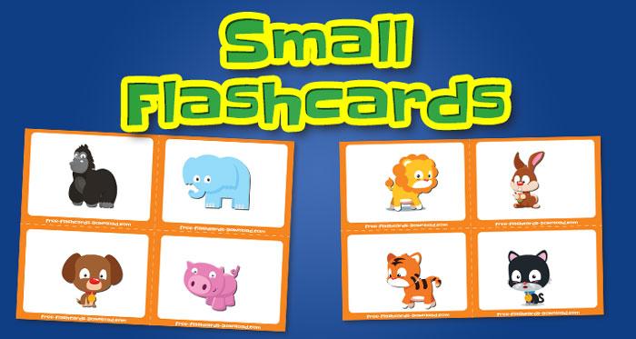 animals small flashcards set1