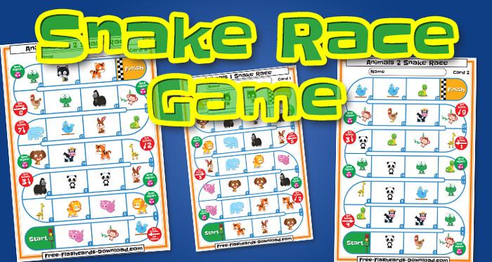 animals snake race game