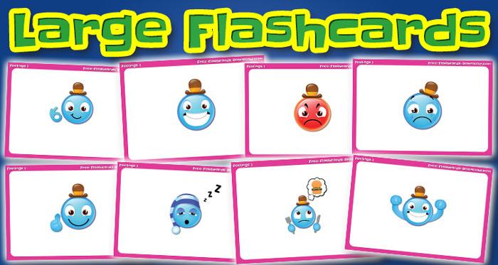 feelings large flashcards set1