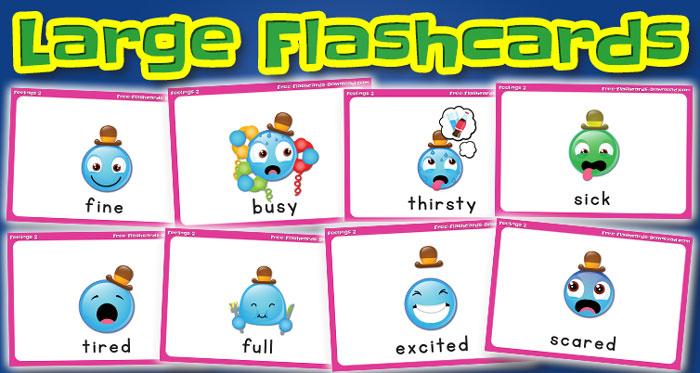 feelings large flashcards set2 captions