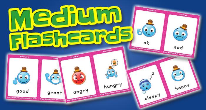 feelings medium flashcards set1 captions