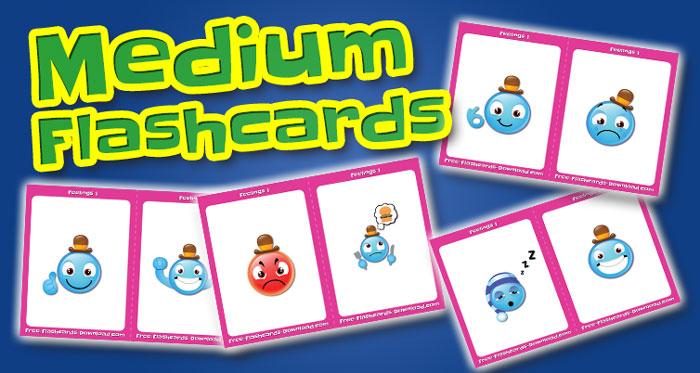 feelings medium flashcards set1