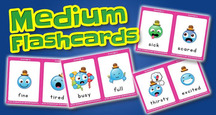 feelings medium flashcards set2 captions