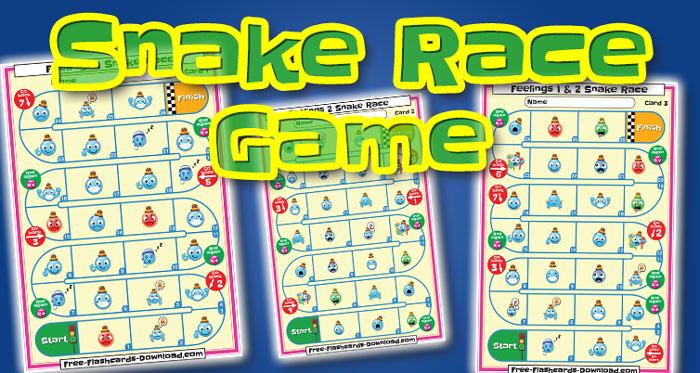 feelings snake race game