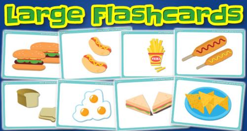 food large flashcards set1