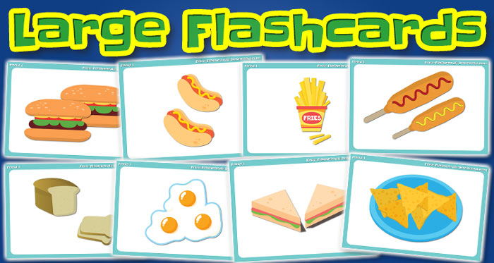 food large flashcards set1