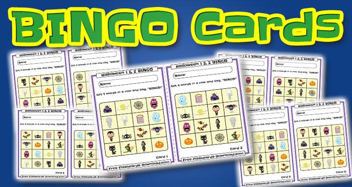 halloween bingo cards 10sets