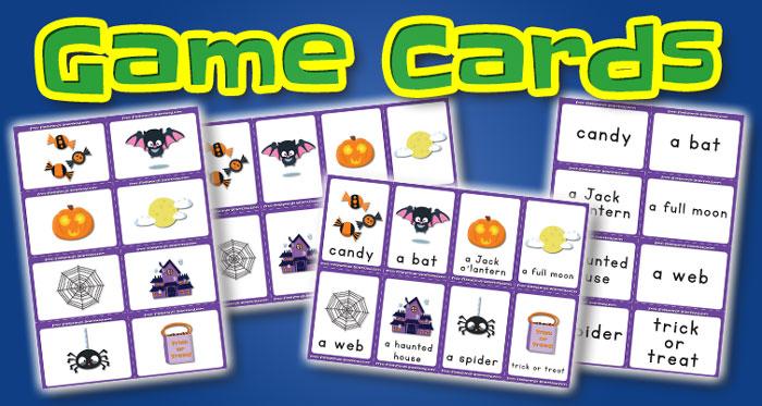 halloween game cards set1