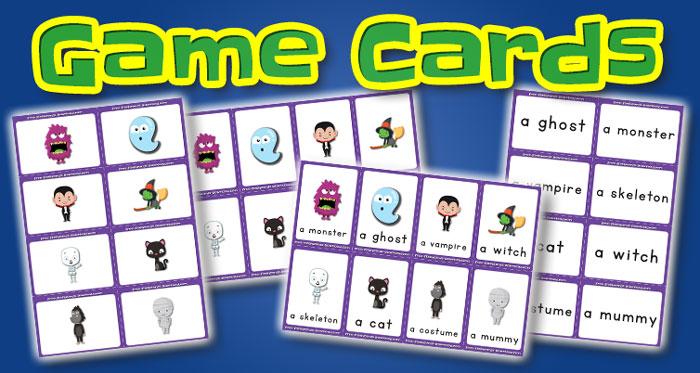 halloween game cards set2