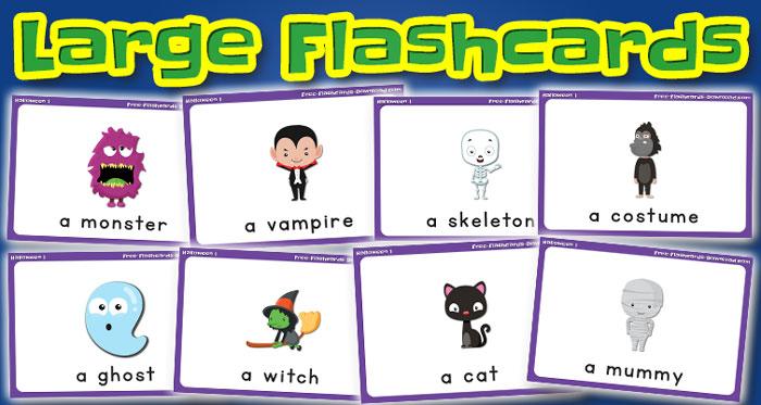 halloween large flashcards set1 captions