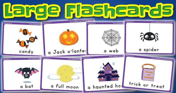 halloween large flashcards set2 captions