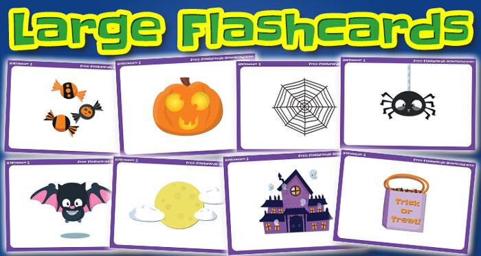 halloween large flashcards set2