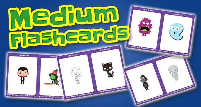halloween medium flashcards set1