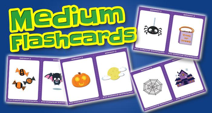 halloween medium flashcards set2