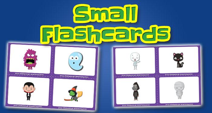 halloween small flashcards set1