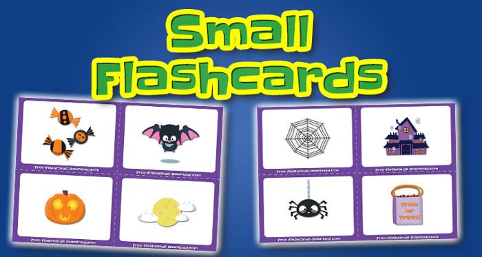 halloween small flashcards set2