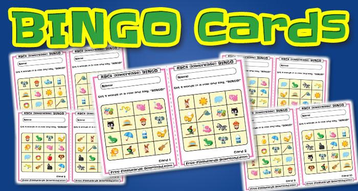 lowercase alphabet bingo cards pics 10sets