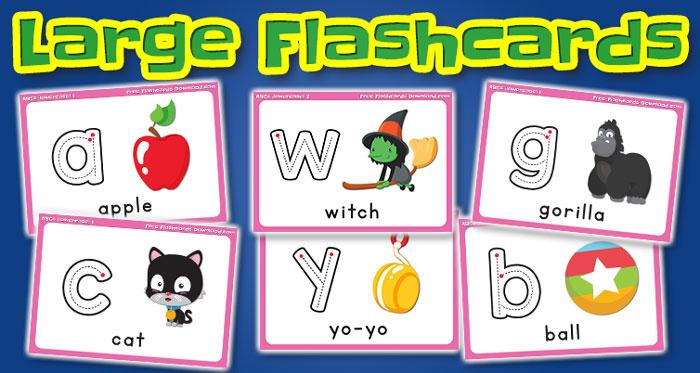 lowercase alphabet large flashcards