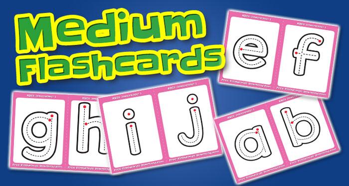 lowercase alphabet medium flashcards abc
