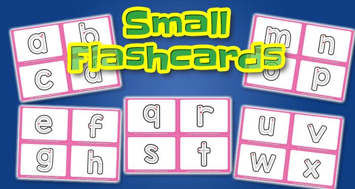 lowercase alphabet small flashcards abc