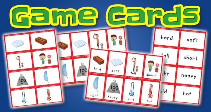 opposites game cards set1