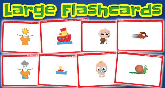 opposites large flashcards set1