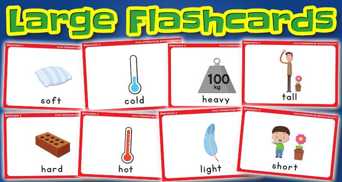 opposites large flashcards set2 captions