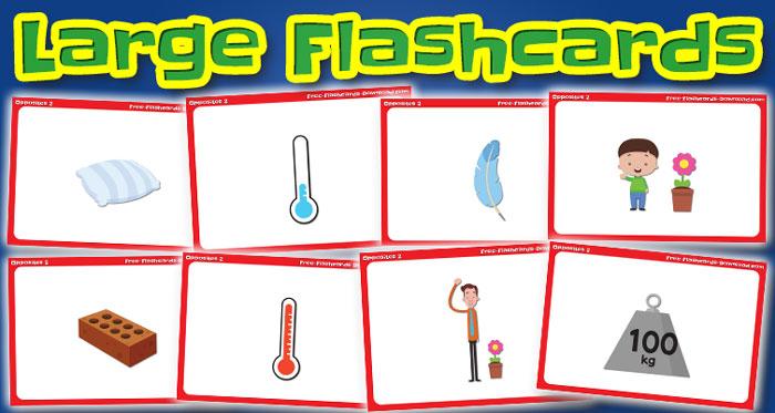 opposites large flashcards set2