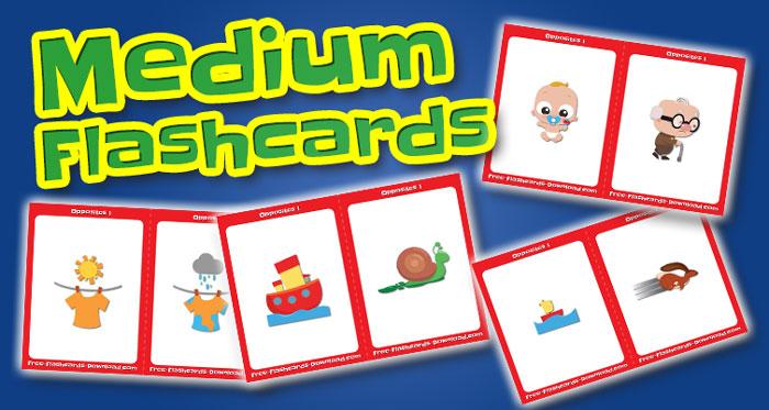 opposites medium flashcards set1