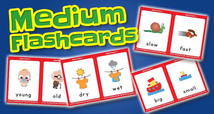 opposites medium flashcards set1 captions