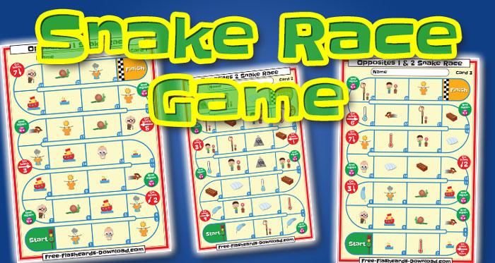 opposites snake race game