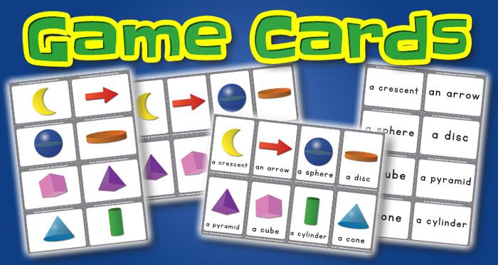 shapes game cards set1