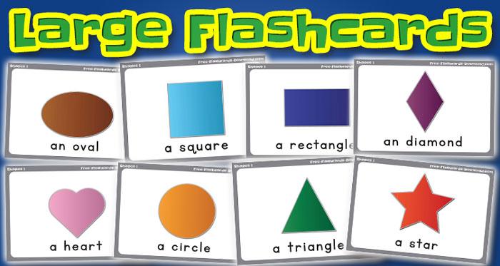 shapes large flashcards set1 captions