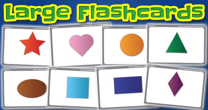 shapes large flashcards set1