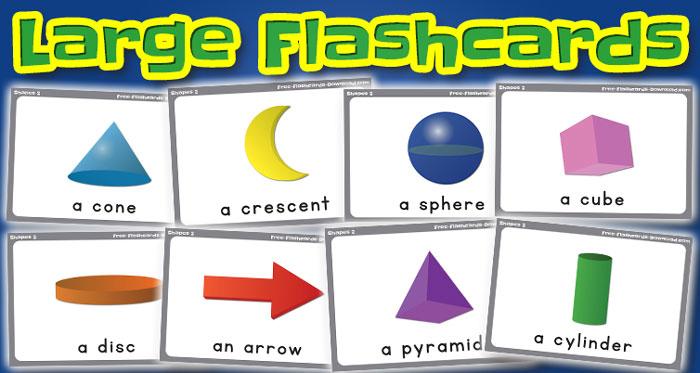 shapes large flashcards set2 captions