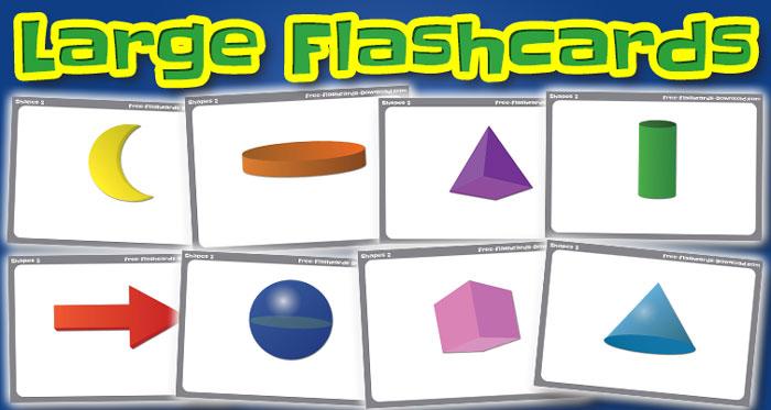 shapes large flashcards set2