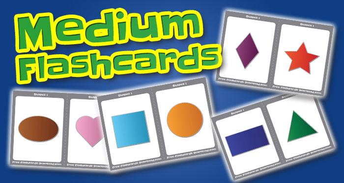 shapes medium flashcards set1