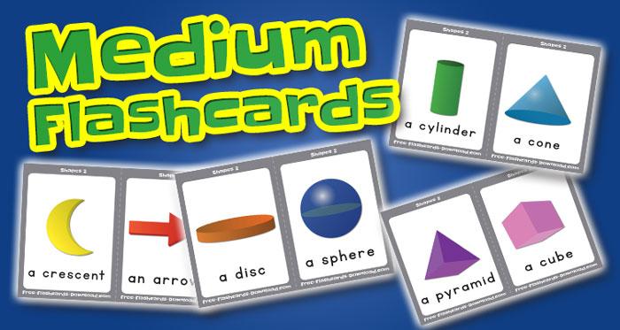 shapes medium flashcards set2