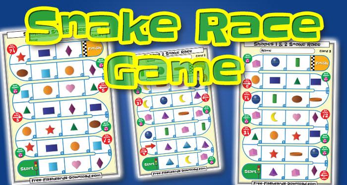 shapes snake race game