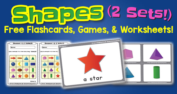 Free Shapes Flashcards Games and Worksheets