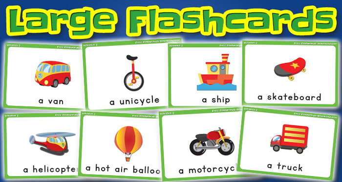 vehicles large flashcards set2 captions