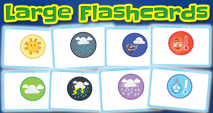 weather large flashcards set1