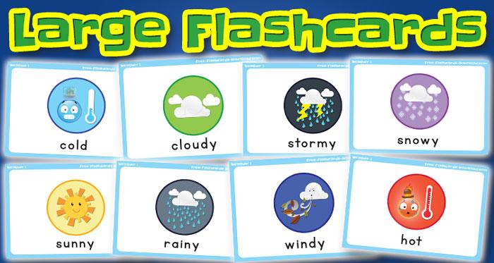 weather large flashcards set1 captions
