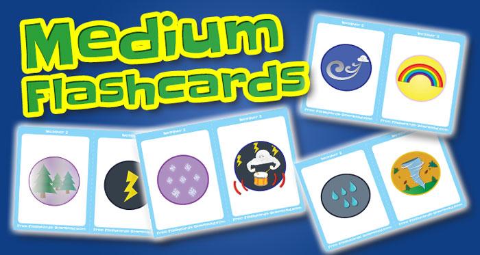 weather medium flashcards set2