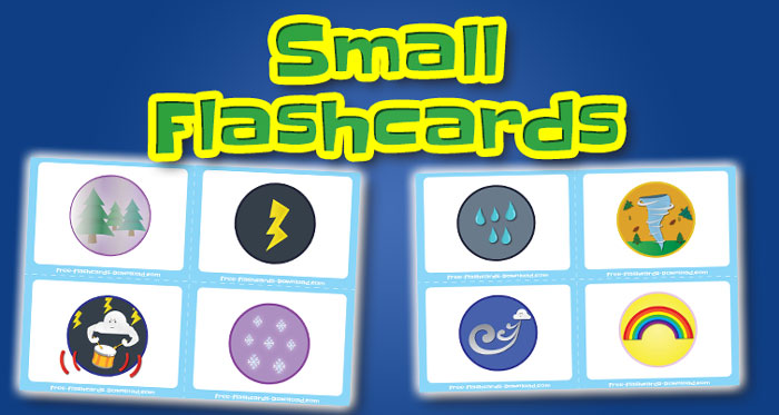 weather small flashcards set2