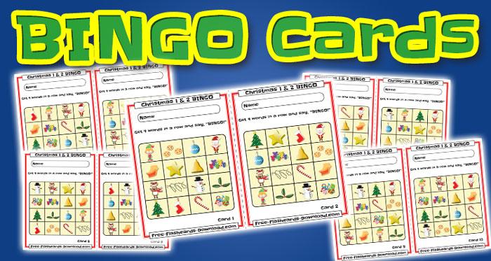 christmas bingo cards 10sets