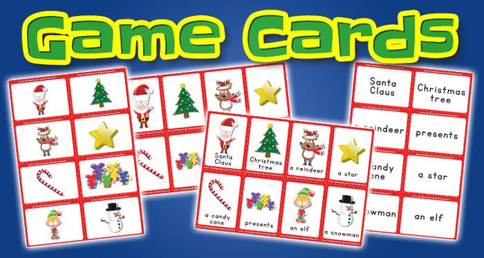 christmas game cards set1