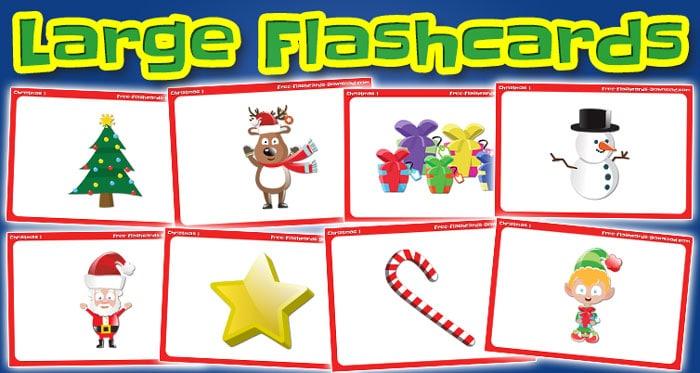 christmas large flashcards set1